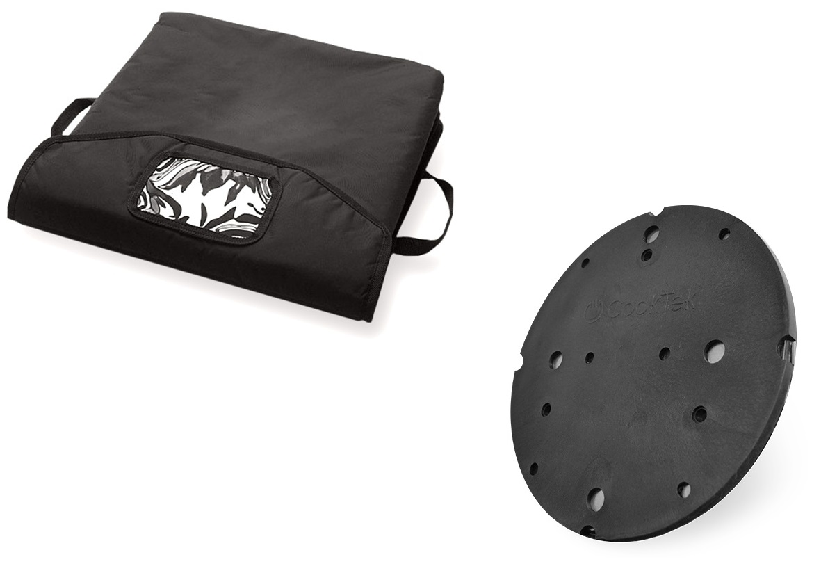CookTek PB-5 Black Pizza Bag with tray and disc